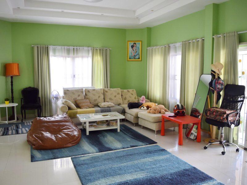Одноэтажный дом с тремя спальнями расположен в поселке Pornthip Garden 3